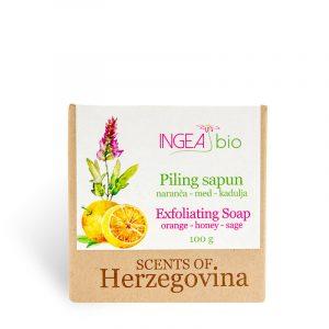 Piling sapun naranča - med – kadulja 100 g